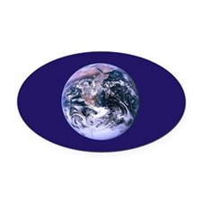 Planet Earth Oval Car Magnet