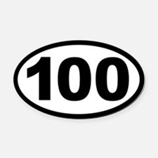Ultra 100 Oval Car Magnet
