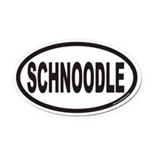 SCHNOODLE Euro Oval Car Magnet