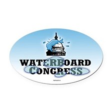 Waterboard Congress Oval Car Magnet