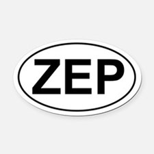 ZEP Oval Car Magnet