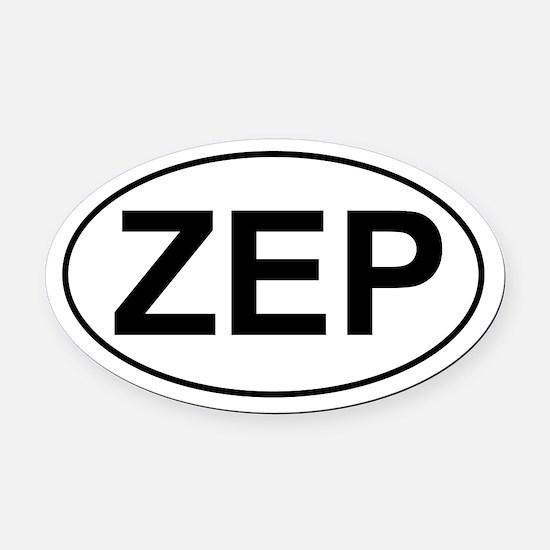 ZEP Oval Car Magnet