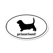 Got Basset Hound? Oval Car Magnet
