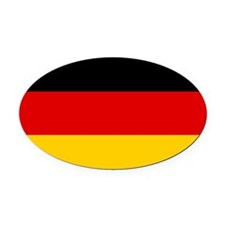 Germany Flag Oval Car Magnet