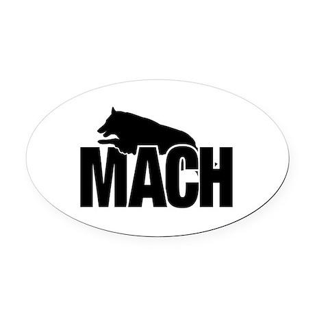 MACH Belgian Tervuren Oval Car Magnet