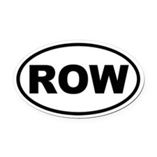 ROW Oval Car Magnet