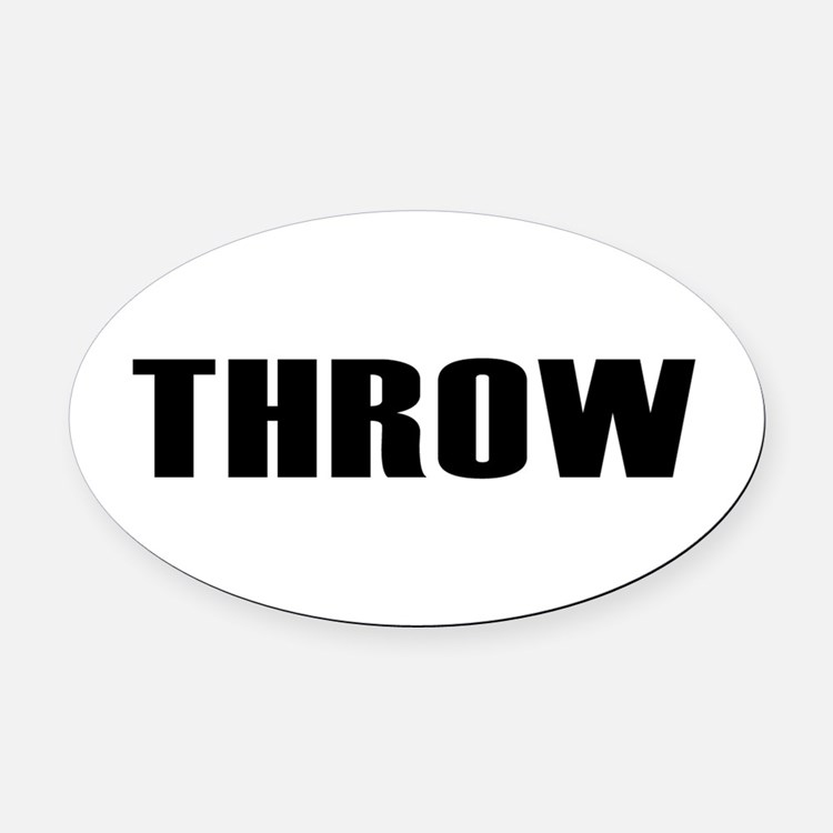 Throw Oval Car Magnet