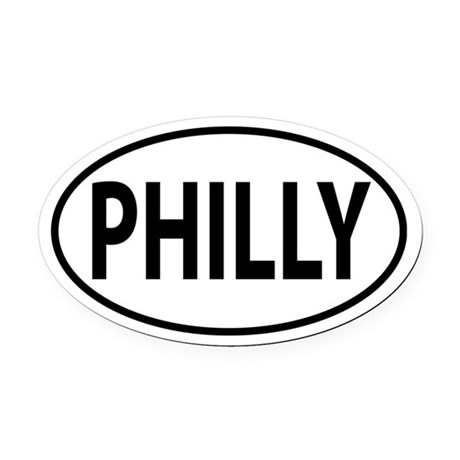 Philadelphia PHILLY Oval decal Oval Car Magnet
