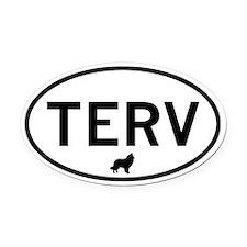 TERV (Belgian Tervuren) Oval Car Magnet