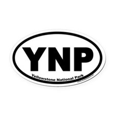 Yellowstone National Park YNP Euro Oval Car Magnet