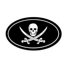 Pirate Oval Car Magnet