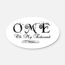 OME - Oh My Edward! Oval Car Magnet