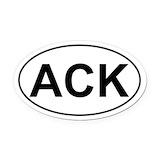 Ack Oval Car Magnets