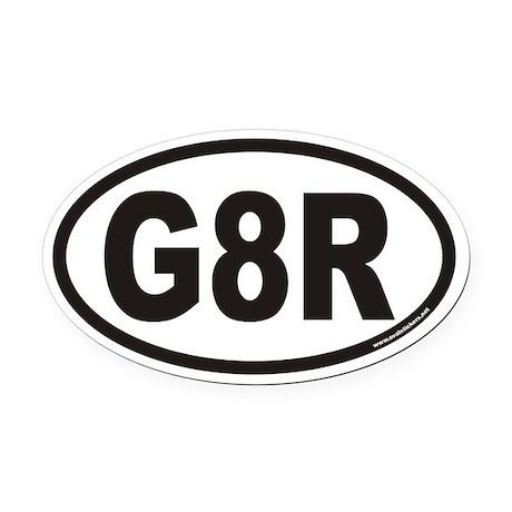 G8R Euro Oval Car Magnet