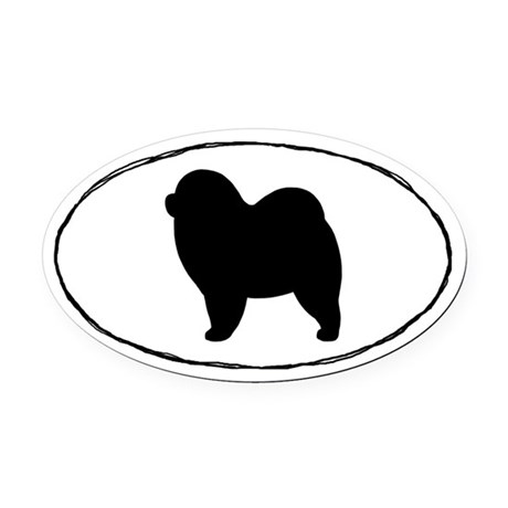 Euro Rough Chow Chow Oval Car Magnet