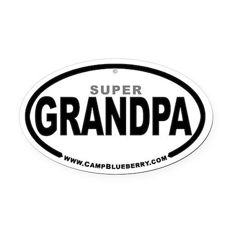 Super Grandpa Oval Car Magnet