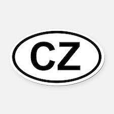 CZ Oval Car Magnet