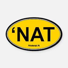 'Nat Oval Car Magnet - Gold