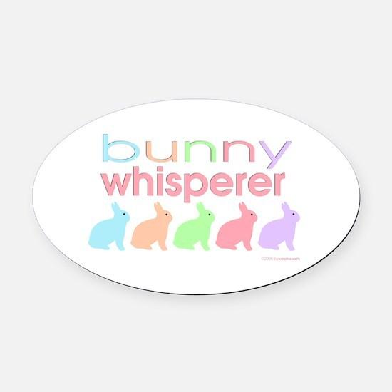 Bunny Whisperer Oval Car Magnet