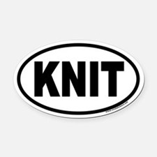 KNIT Euro Oval Car Magnet