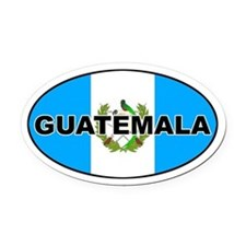 Flag of Guatemala Oval Car Magnet