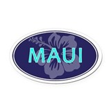 Maui Oval Car Magnets