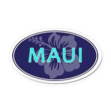 MAUI, HAWAII - Oval Car Magnet