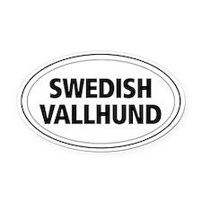 Swedish Vallhund Oval Car Magnet