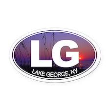 Lake George, New York - Oval Car Magnet