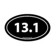 13.1 Half Marathon Bumper Oval Car Magnet -Black (