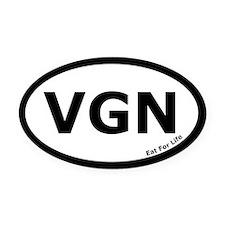 Vegan Euro Oval Car Magnet