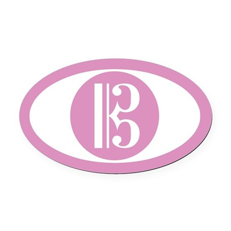 Alto Clef Pink Oval Car Magnet