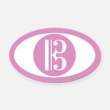 Alto Clef Pink Oval Car Magnet