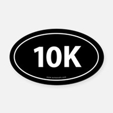 10K Runner Bumper Oval Car Magnet -Black (Oval)