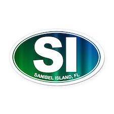 Sanibel Island, FL - Oval Car Magnet