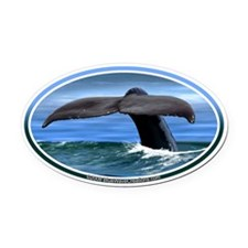 Whale Fluke / Tail car boat Seadoo Oval Car Magnet