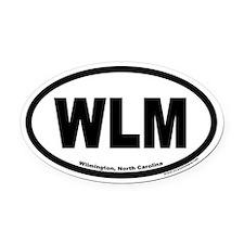 Wilmington North Carolina WLM Euro Oval Car Magnet