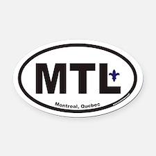 Montreal Quebec MTL Euro Oval Car Magnet
