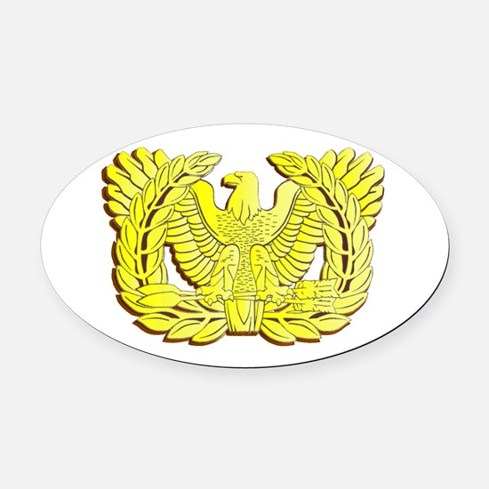WO Oval Car Magnet