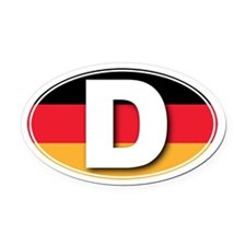 Germany D Oval Car Magnet