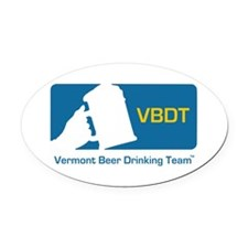 Vermont Beer Drinking Team Oval Car Magnet