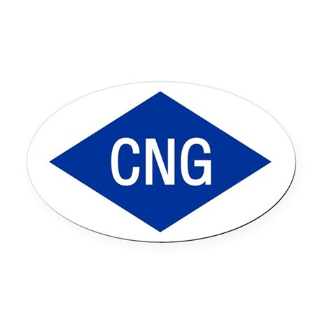 CNG Oval Car Magnet