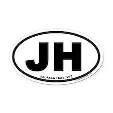 Jackson Hole, WY Oval Car Magnet (V4)