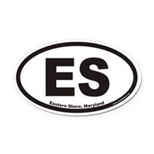 Eastern Shore of Maryland ES Euro Oval Car Magnet