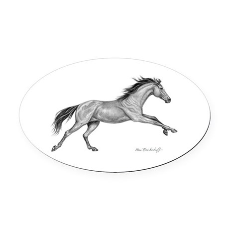 Thoroughbred Horse ~ Oval Car Magnet