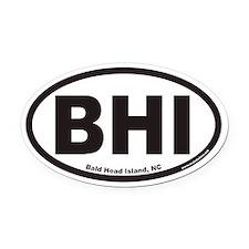 Bald Head Island BHI Euro Oval Car Magnet