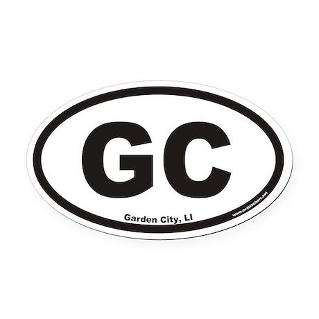Garden City GC Euro Oval Car Magnet