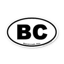 Beavercreek Ohio BC Euro Oval Car Magnet