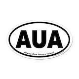 Aruba oval Oval Car Magnets