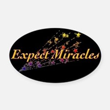Expect Miracles Oval Car Magnet